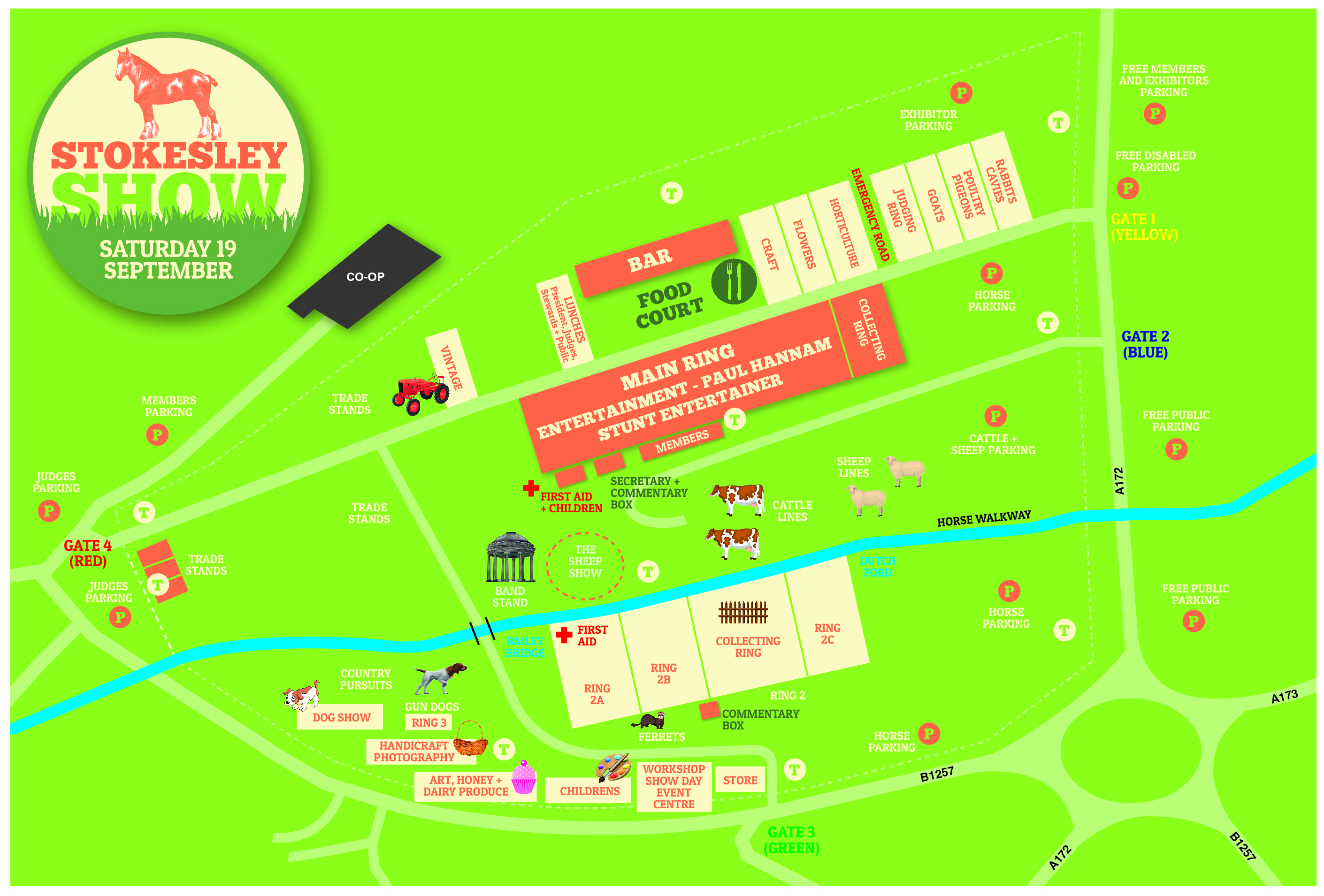 Stokesley Show Show Ground Map